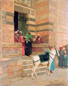 Ludwig Deutsch (1855-1935) - 1900 Leaving the Mosque
