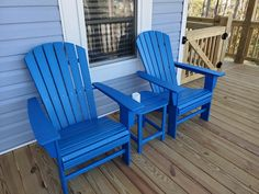 Nautical Curveback Adirondack Chair by POLYWOOD® Adirondack Chairs, Outdoor Chairs, Outdoor Furniture, Outdoor Decor, Homemade Bleach, Fire Pit Table, Nautical, Waterfall, Relax