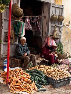 Street market, Rabat (Salé) Medina, Morocco, Africa.   Flickr: Intercambio de fotos