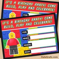 Kit de Lego para Imprimir Gratis.   Ideas y material gratis para fiestas y celebraciones Oh My Fiesta!