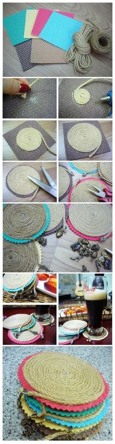 DIY Simple Colorful Rope Coaster