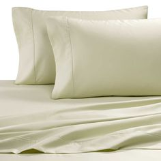 MASTER BEDROOM - BED SHEET SET - Easy-Care Solid King Sheet Set in Sage - 600 Thread-counts - 65% cotton and 35% polyester blend - $ 60.  http://www.bedbathandbeyond.com/store/product/easy-care-solid-sheet-set/1309767?poc=132600