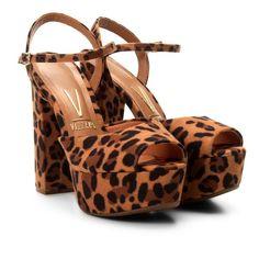 c3682285a Sandalia Meia Pata Vizzano Animal Print - Caramelo -. Lounge A · Sapatos  Femininos