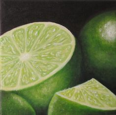 Sliced Limes Painting