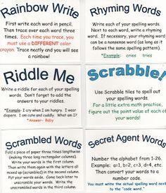 Spelling ideas - make it fun!!