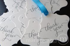 Marrygrams makes beautiful wedding paper products! Thank You Favor Tag #marrygrams