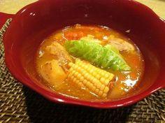 Mexican Chicken Soup | Caldo de Pollo recipe - squeeze lime over. May add jalapeño or Serrano pepper while cooking.