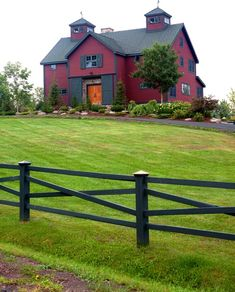 Would You Live in a Red House? - Town & Country Living - Rustic Red Barn Style Home - Future House, My House, House Kits, Red Houses, Barn Houses, Barn Style Houses, Yankee Barn Homes, Barn Living, Country Living