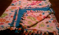 Hand-Knotted Fleece Blanket