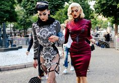 Paris FW streetstyle - Violet Chachki and Miss Fame