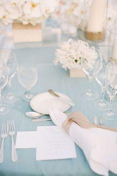 Blue-an-White-Wedding-Tablescape  Jen Antoniou Jen Antoniou Weddings www.jenantoniouweddings.com events@jenantoniou.com 707-992-5872 (text or call anytime)