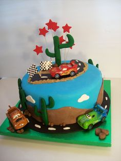 Cars cake Auckland 9 inch $195