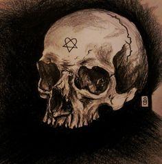 Heartagram Skull by ztacey on DeviantArt