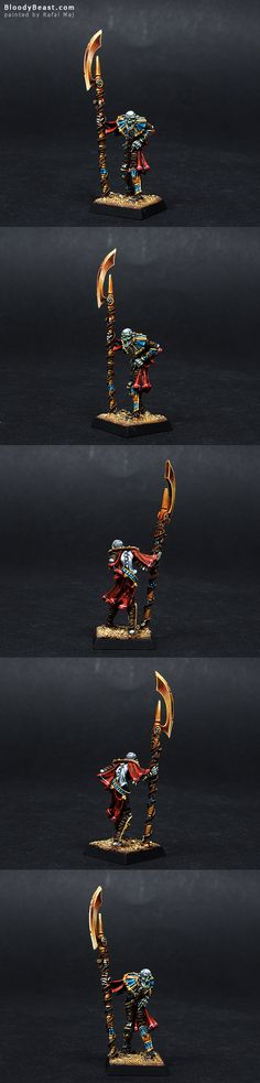 Tomb Kings Liche Priest painted by Rafal Maj (BloodyBeast.com)