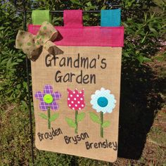Easter bunny garden flag personalized burlap spring garden flag hey i found this really awesome etsy listing at httpsetsy listing287230505mothers day garden flag grandamas garden negle Image collections