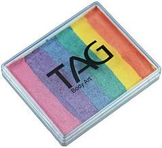 Tag Split Cakes Pearl Rainbow 50 GM for sale online Face Painting Colours, Face Painting Designs, Paint Designs, Tag Face Paint, Rainbow Face Paint, Face Painting Supplies, Pearl Rose, Painted Cakes, Cake Face
