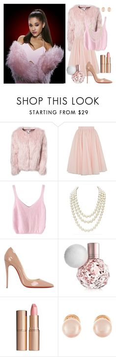 """Chanel #2 - Scream Queens"" by alexa-haley ❤ liked on Polyvore featuring Estradeur, Ted Baker, Chanel, Christian Louboutin, Charlotte Tilbury, Kenneth Jay Lane, ScreamQueens and ScreamQueenAlexa"