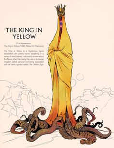 Fantasy Characters: The King in Yellow by Deimos-Remus on DeviantArt Call Of Cthulhu, Monster Design, Monster Art, Monster Concept Art, Arte Horror, Horror Art, Fantasy Character Design, Character Art, Arte Dark Souls