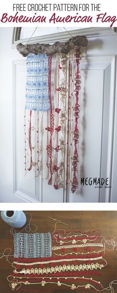 Bohemian American Flag Crochet Pattern — Megmade with Love