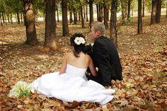 romantic wedding in fall season