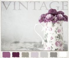 Kim Klassen {dot} Com - Kim Klassen dot Com - Vintage Floral ColorStoryBoard Color Wheel for baby nursery