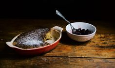 Cranberry and Maple Syrup Pudding