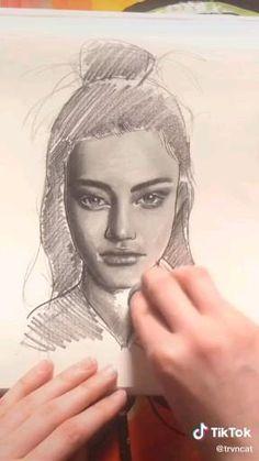 Art Drawings Beautiful, Art Drawings Sketches Simple, Pencil Art Drawings, Realistic Drawings, Horse Drawings, Drawing Art, Pencil Sketches Of Faces, Cool Sketches, Sketch Art