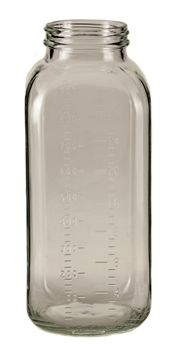 32 oz Graduated Dairy French Square Bottle