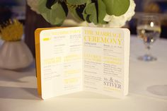 modern wedding program // Images by Studio Elle Photography
