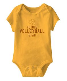 Take a look at this Gold 'Future Volleyball Star' Bodysuit - Infant on zulily today!