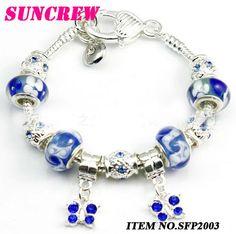 2013 New Arrival fashion silver bead bracelet charm crystal bead bracelet personality European bead bracelet