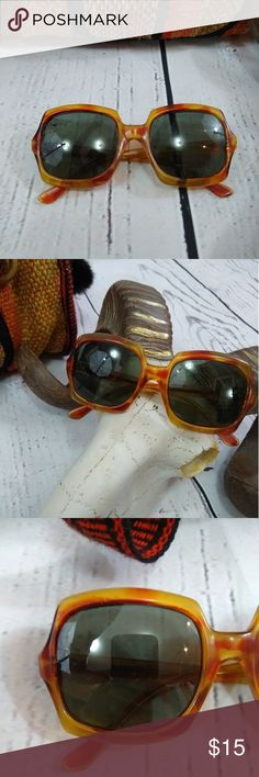 Vintage 70s sunglasses So 70s cool and in good vintage condition. Lenses may have a few tiny scratches. Arms are still a tight fit. Great Amber color. Vintage Accessories Sunglasses
