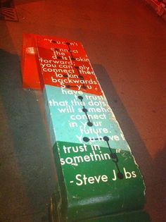 steve jobs quote on a bench in hamra...