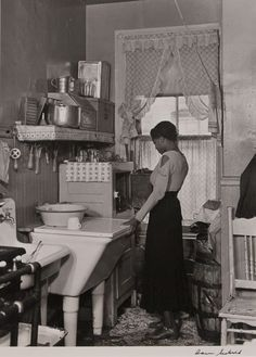 Greenstone [a Harlem kitchen (notice the cutout on her sleeve, now in fashion)]