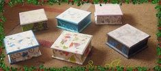 Existe una técnica, llamada decoupage que te permite decorar bandejas de cristal o cajas de madera con servilletas decoradas. Sólo necesitarás la superficie que decorar, servilletas decoradas, cola blanca, un pincel y ganas de pasártelo bien.