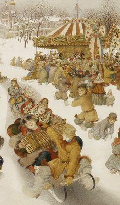 gennady-spirin-Russian-winter-detail-2