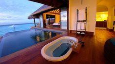 Anantara Kihavah Villa with water pool bathroom