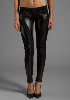 Frankie B. Jeans EXCLUSIVE Bionic Stretch Vegan Leather Jegging in Black