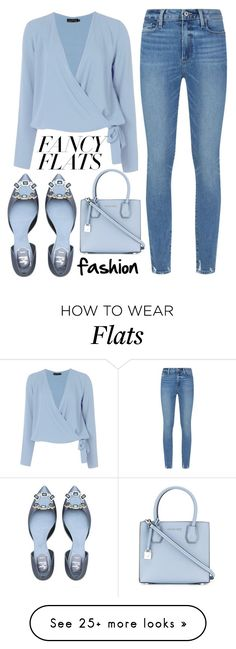 """chic flats"" by j-n-a on Polyvore featuring Boohoo, Paige Denim, MICHAEL Michael Kors and chicflats"