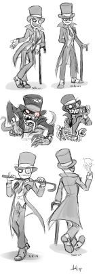 Black Hat sketches by Skeleion
