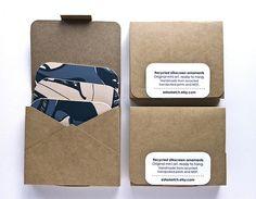 kraft packaging for recycled silkscreen ornaments Scarf Packaging, Kraft Packaging, Cool Packaging, Paper Packaging, Packaging Design, Packaging Ideas, Web Design, Book Design, Paper Design