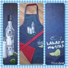 personalized aprons...(my painting)
