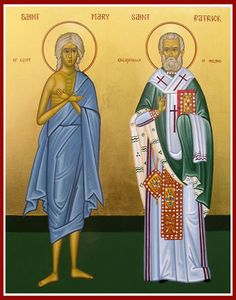 Icons of St. Patrick (Padraig), the Apostle & Enlightener of Ireland St Mary Of Egypt, Orthodox Icons, Pagan, St Patrick, Ireland, Saints, Religion, Aurora Sleeping Beauty, Creations