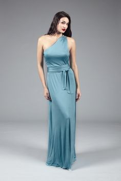 A-line One Shoulder Ruched Natural Waist Self Tie Bow Satin Evening Dress-soe0081,  $174.95