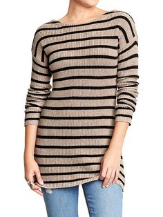 Women's Striped Tunic Sweaters Product Image