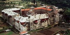 Monastery of Xiropotamou in Athos Holy Cross, Byzantine, World Heritage Sites, 18th Century, Castle, Around The Worlds, Mansions, Architecture, House Styles