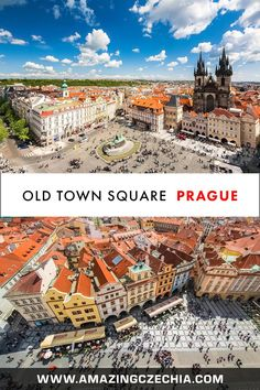 Old Town Square, Prague - Discover the Beauty of Czechia's Golden City Prague Old Town, Prague Castle, Charles Bridge, Central Square, Old Town Square, Capital City, World Heritage Sites, Great Places, City Photo