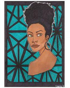 Patterns  #africanprint #blackgirl #natural #turquoise #ink #promarker Disney Characters, Fictional Characters, Turquoise, Ink, Patterns, Disney Princess, Natural, Instagram, Block Prints