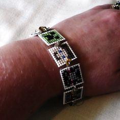 Minecraft Skins Cross Stitched Bracelet Creeper Ghast. $10.00, via Etsy.