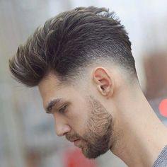 Mens Hairstyles 2018, Hairstyles Haircuts, Haircuts For Men, Cool Hairstyles, Hair And Beard Styles, Curly Hair Styles, Mid Fade Haircut, Gents Hair Style, Style Hair